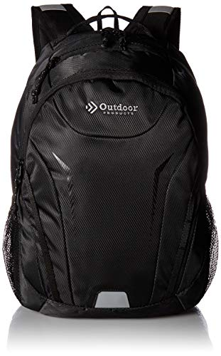 Outdoor Products Crestline Day Pack, 24-Liter Storage, Black