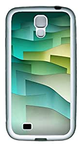Samsung S4 Case Green Curves TPU Custom Samsung S4 Case Cover White