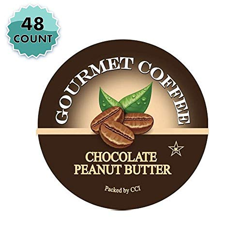 Smart Sips, Chocolate Peanut Butter Gourmet Coffee, 48 Count, For Keurig K-Cup Brewers