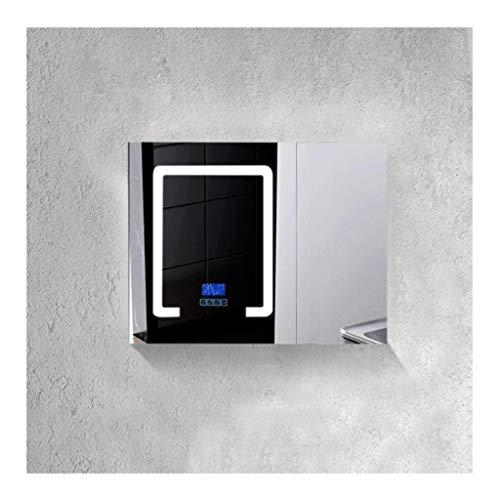 RKRCXH Bathroom Cabinet, Modern LED Bathroom Mirror Cabinet Lights Bluetooth Touch Sensor -