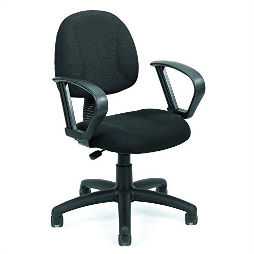 Loop Arm Task Chair (Boss Office Products B317-GY Perfect Posture Delux Fabric Task Chair with Loop Arms in Grey)