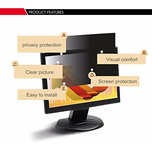 28  Privacy Filter Screen Protective film for 16:9 Widescreen Desktop Computer 24 7//16  wide x 13 1//4  high 621mm*336mm