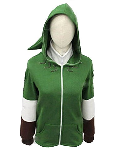The Legend of Zelda Link Jacket Cosplay Costume Sweatshirt Hyrule Seal Hoodie Adult