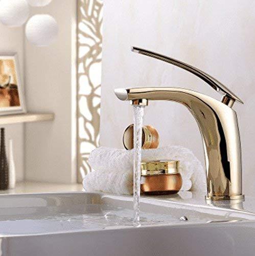 Oudan Basin Mixer Tap Bathroom Sink Faucet gold plated 珞 full copper silver basin Faucet