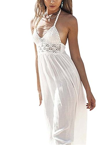 LILBETTER-Womens-Beach-Crochet-Backless-Bohemian-Halter-Maxi-Long-Dress