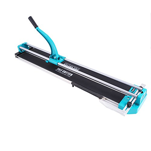 Mophorn Tile Cutter Manual 47 Inch Adjustable Laser Guide Tile Cutter Pro Heavy Duty Tile Cutter Machine for Preciser Cutting of Porcelain Ceramic Floor Tiles (47 Inch) ()