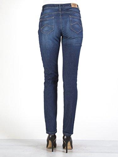 femme Bleu denim Jeans taille normale Jeans 753 101 pour Lavage extensible style taille cigarette Fonc haute style Carrera tissu xITB85qx