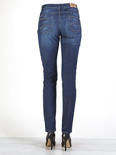 extensible denim taille taille 753 101 tissu Lavage style cigarette Jeans haute Carrera Fonc pour Bleu Jeans normale style femme v8Fwg