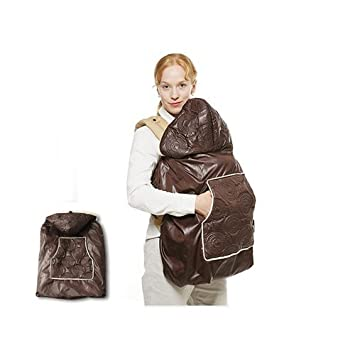 2d104d36462 Amazon.com   Manito Shiny Skin Infant Carrier Warmer   Bunting   Stroller  Footmuff - Chocolate (4 Available Colors)   Baby Bunting Bags   Baby