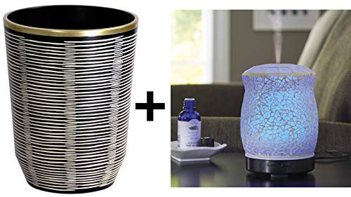 Better Homes and Garden Tribal Chic Wastecan and Better Homes & Gardens 100 mL Crackled Mosaic Essential Oil Diffuser