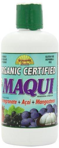 Mélange de jus de Maqui certifié biologique de santé dynamique avec Grenade, Acai & mangoustan, 33.8 onces de santé dynamique