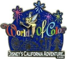Disney Pin DLR - World of Color - Tinker Bell and Logo California - Adventure Californias