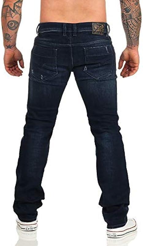 Diesel Safado-R RF48N męskie jeansy typu slim proste, styl vintage, used look: Odzież