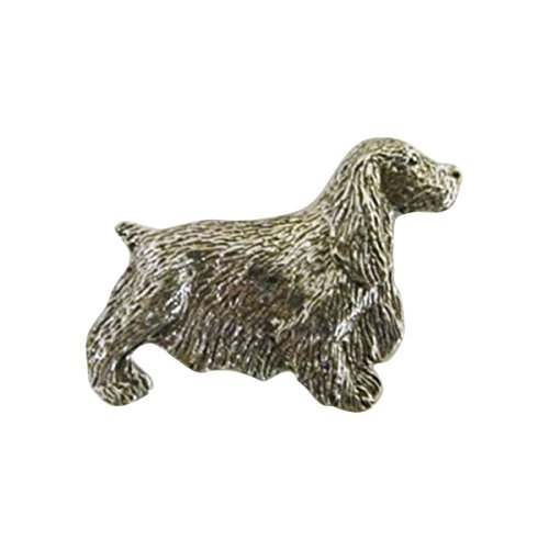English Cocker Spanie Lapel PinPewter ~ Full Body