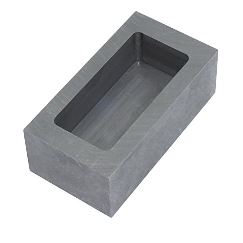 Graphite Ingot Mold Melting Casting Mould for Gold Silver Metal (85x45x30mm - 665g Gold/320g Silver)