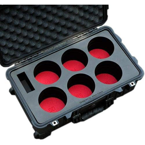Jason Cases Protective Case with Laser-Cut Foam for Set of 6 Canon CN-E Lenses, Compact