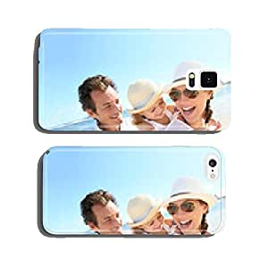 Portrait of happy family at the beach cell phone cover case iPhone6 Plus