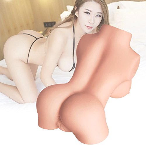 Clean & Clear Massager - Perfect Size Torso Love Doll - 3D Lifelike Silicone TPE Dolls Adult Male Massager Love Toys Natural Skin for Husband Boyfriend Game Self Pleasure (10×6.2×4in)