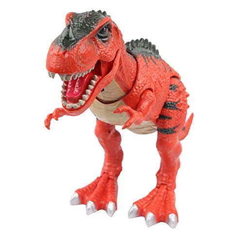 Sun Cling Electronic Toys Red Walking T-rex Dinosaur