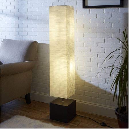 Mainstays Floor Lamp Dark Wood Finish With Cfl Bulb Included