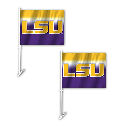 Fremont Die NCAA LSU Tigers Ombre Car Flag (2 Pack), One Size, Yellow