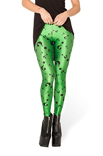 Zanuce Women's 2015 NEW Anime Print Pattern Tight Stretch Leggings(The Riddler), 824, One Size