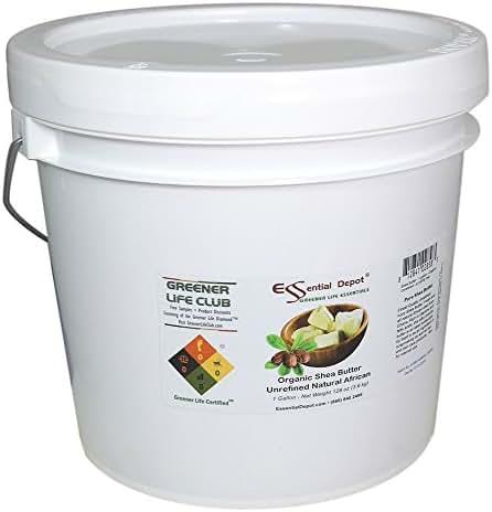 Shea Butter - Organic Grade A - Premium Unrefined - 1 Gallon (8 pounds)