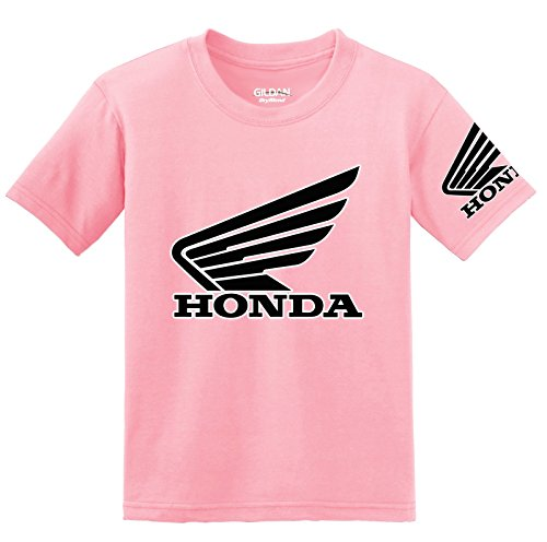 Ladies Honda Cbr - Honda Goldwing Logo with Sleeve T-Shirt, XL Pink