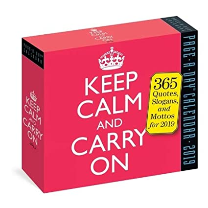 Amazon Com 2019 Keep Calm And Carry On Daily Page A Day Box Desk