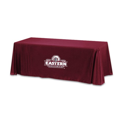Eastern Maroon 6 foot Table Throw 'Official Logo' by CollegeFanGear