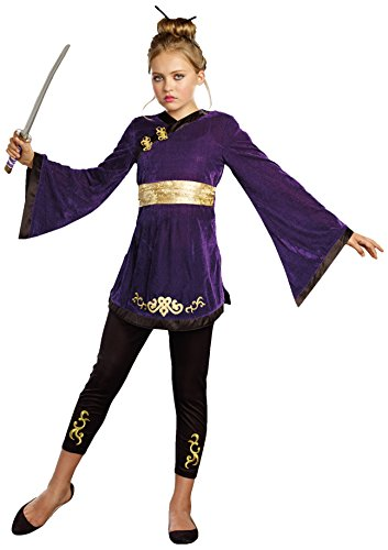 SugarSugar Girls Lotus Warrior Costume, One Color,