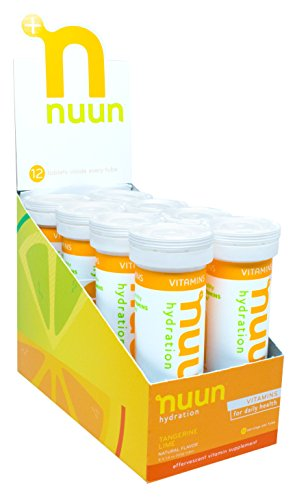Nuun Hydration: Vitamin + Electrolyte Drink Tablets, Tangerine Lime, Box of 8 Tubes (96 servings), Enhanced for Energy and Daily Health