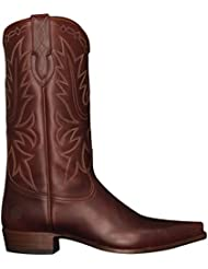 Ranch Road Boots Mens Yoakum County Cowboy Boot with Walking Heel Brown