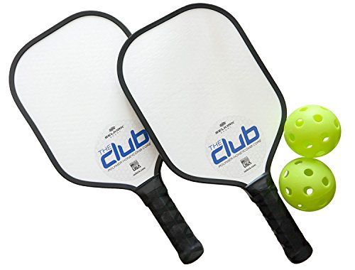 Selkirk Sport Club Paddle - Lightweight Polymer Honeycomb Composite & USA Made - Bundles Available (Blue, 2 Paddles / 2 Indoor (Lightweight Comb)