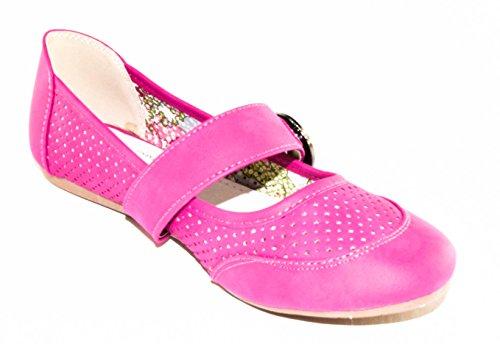 BTS - Bailarinas de cuero de imitación para mujer Varios Colores - rosa