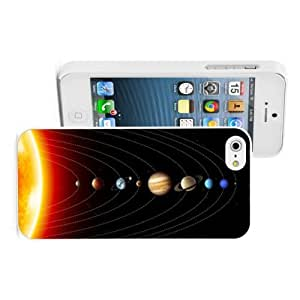 Apple iPhone 4 4S Hard Back Case Cover Color Solar System Planets (White)