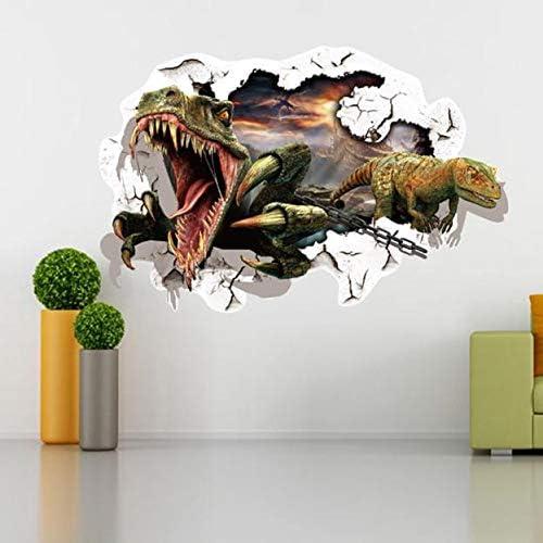 3D Dinosaur Wallpaper Sticker Art Design Decal Kids Magnet 12 PCS Home Decor
