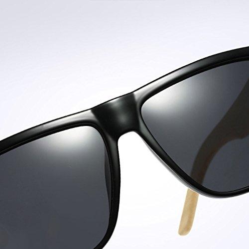 TP polarisées Soleil de de Couleur Hommes Noir Femmes Solaire UV durables Bleu Anti Protection Lunettes Lunettes UV et Anti rAWFOxr
