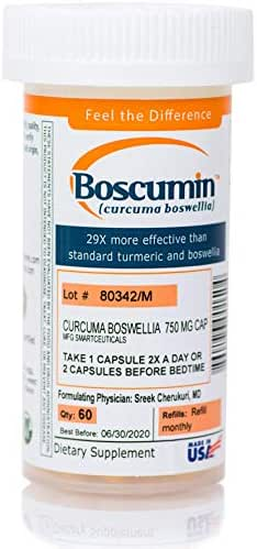 Boscumin® #1 Doctor-Developed Pharmaceutical Strength Curcumin Boswellia with SmartSynergy™ Technology for Optimal Absorption