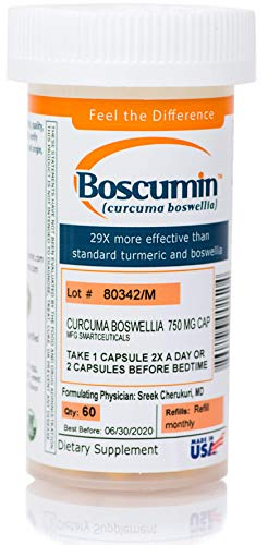 Boscumin 1 Doctor-Developed Pharmaceutical Strength Curcumin Boswellia with SmartSynergy Technology for Optimal Absorption