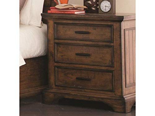 - Coaster Home Furnishings Elk Grove Nightstand with Wire Cord Vintage Bourbon