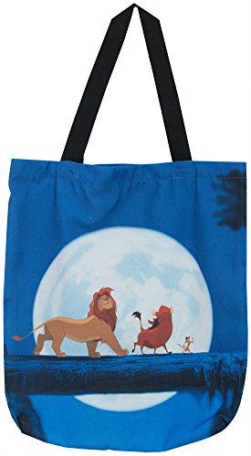 The Lion King Simba Pumbaa Timon Disney Animated Movie Blue Canvas Tote Bag