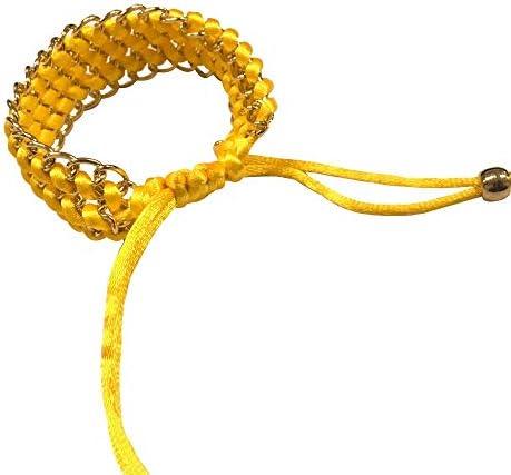 RTYW 金属メッシュベルトと複数のカラー織ロープのブレスレットストラップウォッチ42ミリメートル/ 46ミリメートル/アクティブ/リストバンド (Band Color : Brown, Band Width : For Watch Active)