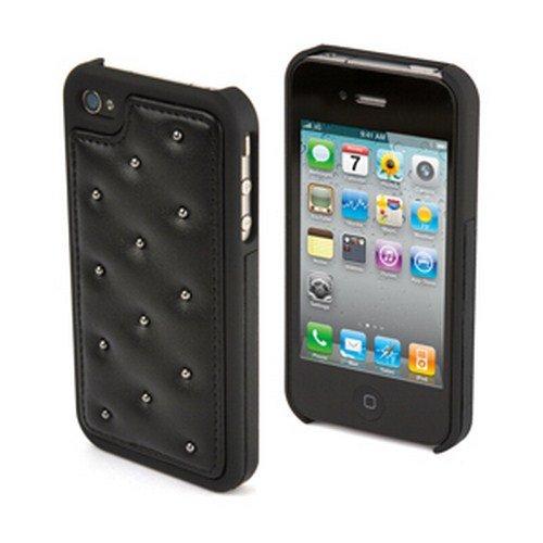 Muvit Club Back Coque rigide en polycarbonate pour iPhone 4S/4 Noir/Noir