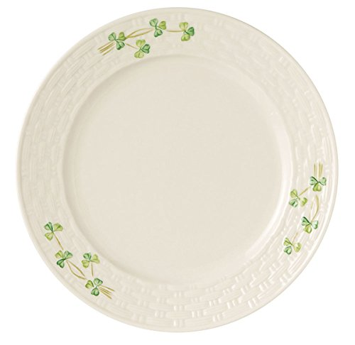 Belleek Group 0036 Shamrock Dinner Plate, 11.25-Inch,
