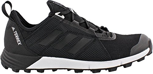 adidas Men's Terrex Agravic Speed Trail Running Shoe,Black/Black/White,US 9.5 M (Adidas Trail Running Shoes Men)