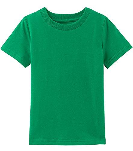 (COSLAND Toddler Green T Shirt Crewneck Tops (Green, 4T))