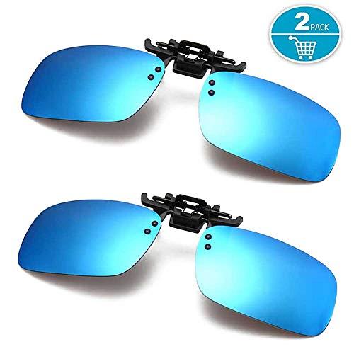Polarized Clip-on Sunglasses Anti-Glare UV400 Driving Glasses Men & Women 2 ()