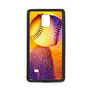Custom Hard Plastic Back Case Cover for Samsung Galaxy Note 4 with Unique Design Baseball