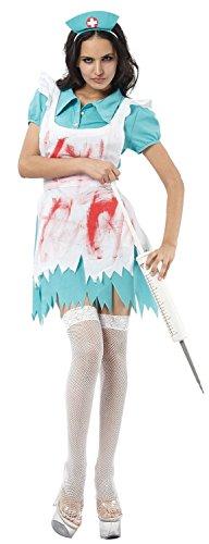 Ladies Sexy Zombie Dead Bloody Nurse Halloween Fancy